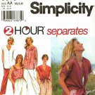 Simplicity 9518 Pattern uncut XS S M 2 Hour Separates Pants Button Front Top Pullover Top