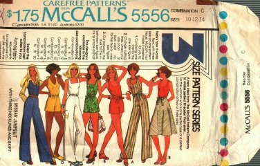 McCall's 5556 Pattern uncut 10 12 14 Jumpsuit and Skirt