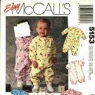 McCall's 5153 Pattern uncut Infants Babies 14 - 32 pounds Jumpsuit Romper Snap Crotch