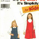 Simplicity 7313 Pattern uncut Toddlers Girls 3 4 5 6 7 8 Jumper
