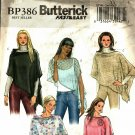 Butterick BP386 Pattern uncut S M 8 10 12 14 Poncho with Flower