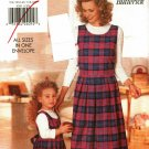 Butterick 4581 Pattern uncut Girls Misses Mother Daughter Jumper and Top