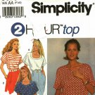 Simplicity 8373 Pattern uncut 6 8 10 12 14 16 petite small medium 2 hour top