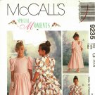 McCall's 9235 Pattern uncut Girls 4 5 6 Special Occasion Dress Flower Girl