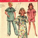 Simplicity 8511 Pattern Complete Medium 12 14 Jiffy Nightgown Pajamas