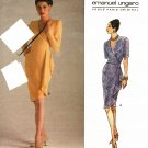 Vogue 1110 Pattern uncut 14 16 18 Mock Wrap Dress Emanuel Ungaro Paris Original