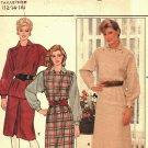 Butterick 6104 Pattern uncut 12 14 16 Horizontal Button Front to Yoke Straight Dress Tunic Skirt