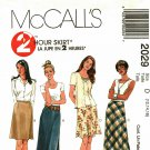 McCall's 2029 Pattern uncut 12 14 16 A Line or Bias Skirts in Two Lengths