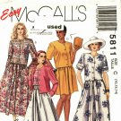 McCall's 5811 size 10 12 14 Culottes Top may be missing pieces, 50 cents plus shipping