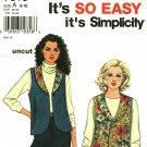 Simplicity 7318 Pattern size 6 8 10 12 14 16 Reversible Vest Shawl Collar