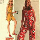 Simplicity 8787 Pattern size 14 Used Jiffy Sleeveless Jumpsuit Short or Long