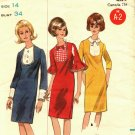 Butterick 3990 Pattern size 14 Slim Mod Dress with Front Bib