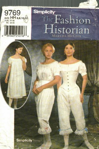 Simplicity 9769 size 12 Civil War Undergarments may be missing pieces, 50 cents plus shipping
