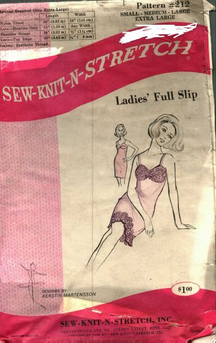 Sew Knit N Stretch 212 Full Slip uncut no instructions, 50 cents plus shipping