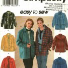 Simplicity 7315 Shirt Jacket M Sewing Pattern may be missing pieces, 50 cents plus shipping