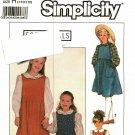Simplicity 9321 Pattern uncut Girls 7 8 10 Jumpers Blouse Peter Pan Collar