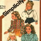 Simplicity 5675 Pattern uncut Toddlers Girls size 4 Blouses Ruffle Variations Short or Long Sleeves