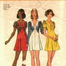 Simplicity 5499 Pattern 14 Babydoll Dress Short Puff Sleeves Cut Complete