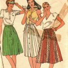 Butterick 3672 Pattern 14 A Line Pleated Skirt with Allaround Sections Cut Complete