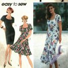 Simplicity 7818 Pattern uncut 6 8 10 Flared or Slim Dress for Stretch Knits