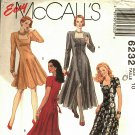 McCall's 6232 Pattern uncut 10 Fit and Flare Dress in Two Lengths Square Neckline