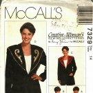 McCall's 7329 Pattern uncut 14 Unlined Jacket Detachable Decorated Collar Nancy Zieman