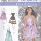 Simplicity 1655 Pattern Uncut 4 6 8 10 12 Strapless Dress Jessica McClintock