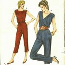 Kwik Sew 1311 Pattern uncut 14 16 18 20 Blouson Tapered Jumpsuit Snap Shoulders
