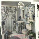 McCall's Home Decorating 4276 Pattern Bathroom Textiles