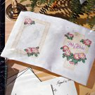 Bucilla Hand Embroidery Stamped Wild Roses Bible Cover Kit