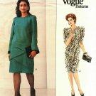 Vogue 2203 Pattern Uncut Size 14W 16W 18W Dress Short or Long Sleeves Zig Zag Tiers