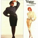 Vogue 2151 Pattern Uncut Size 16 Long Sleeve Wrap Top Tapered Lined Skirt Emanuel Ungaro