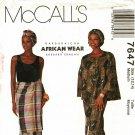 McCall's 7647 Pattern uncut Barbaraicha African Barbara Ebadan Top Wrap Skirt Headwrap Overskirt