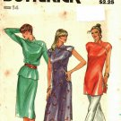 Butterick 3133 Pattern uncut 14 Dress Tunic Top Skirt Piping Asymmetrical Mandarin Collar