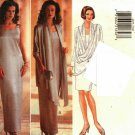 Butterick 4033 Pattern uncut 6 8 10 Drape Front Jacket Sleeveless Dress Formal