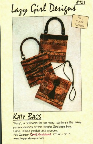 Lazy Girl Designs 121 Sewing Pattern Katy Bags Handbag Purse Goddess Bag