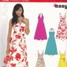 Simplicity New Look 6557 Pattern uncut 8 10 12 14 16 18 Summer Dresses Halter Sleeveless