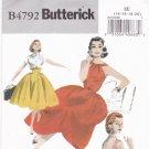Butterick B4792 Pattern uncut 14 16 18 20 Retro 57 Rockabilly Dress Jacket Belt