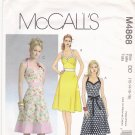 McCall's M4868 Pattern uncut 12 14 16 18 A Line Halter Dresses