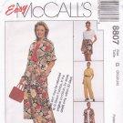 McCall's 8807 Pattern uncut 20 22 24 Skirt Top Shirt Pants Shorts