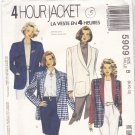 McCall's 5909 Pattern uncut 8 10 12 Lined Unlined 4 Hour Jacket