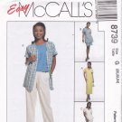 McCall's 8739 Pattern uncut 20 22 24 Dress Tunic Tank Top Pants Shorts