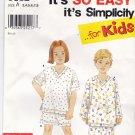 Simplicity 9882 Pattern 3 4 5 6 7 8 uncut Girls Boys Toddlers Pajamas