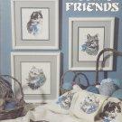 Leisure Arts 2022 Feline Friends Cats Cross Stitch leaflet