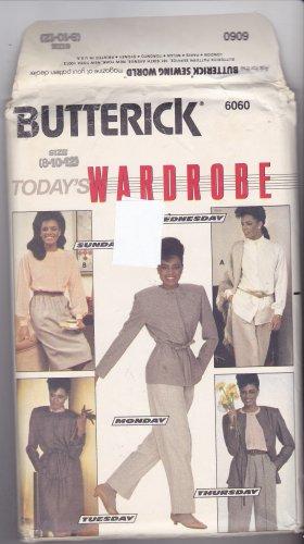 Butterick 6060 Pattern uncut 8 10 12 Jacket Skirt Pants Blouse Career Separates Vintage 1980s