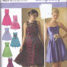 Simplicity 4070 Uncut 12 14 16 18 20 Fit and Flare Dress Strapless or Sleeveless