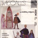 McCall's 4404 Pattern Uncut Adult L 40 42 Medieval Costume King Queen Prince Princess Knight