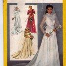 Simplicity Pattern 9755 uncut 10 Bridal Wedding Bridesmaid Dress 1980s Empire Waist Ruffle