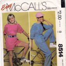 McCall's 8514 Pattern uncut Girls 7 Short or Long Jumpsuit Sash for Stretch Knits Vintage 1980s