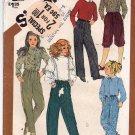 Simplicity 5731 Pattern uncut Girls 12 Front Pleat Pants Knickers Vintage 1980s